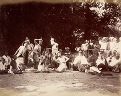 [View of a pwe in progress, Burma.]